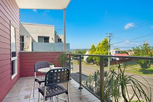 The Private Balcony of a 2 Bedroom Townhouse Apartment at Birmingham Gardens Townhouses.