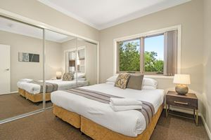 The Second Bedroom of a 2 Bedroom Townhouse Apartment at Birmingham Gardens Townhouses.