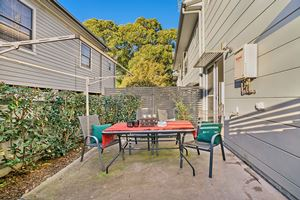The Private Courtyard of a 3 Bedroom Townhouse Apartment at Birmingham Gardens Townhouses.