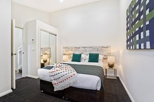 The Second Bedroom of a 3 Bedroom Townhouse Apartment at Birmingham Gardens Townhouses.
