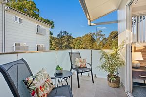 The Balcony of a 5 Bedroom Townhouse Apartment at Birmingham Gardens Townhouses.