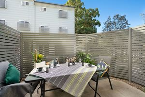 The Private Courtyard of a 5 Bedroom Townhouse Apartment at Birmingham Gardens Townhouses.