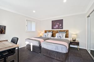 The Fifth Bedroom of a 5 Bedroom Townhouse Apartment at Birmingham Gardens Townhouses.