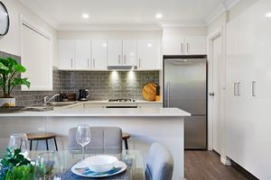The Kitchen of a 5 Bedroom Townhouse Apartment at Birmingham Gardens Townhouses.