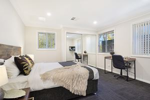 The Third Bedroom of a 5 Bedroom Townhouse Apartment at Birmingham Gardens Townhouses.